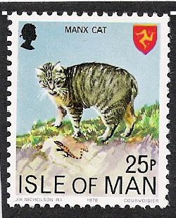 Manx Cat on Stamp